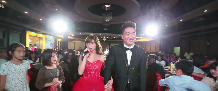 youtube發燒影片新娘二次進場唱歌44萬點閱